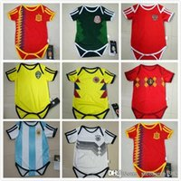 Wholesale Viscose Clothing - GERMANY 2018 MEXICO BABY Soccer Jersey SPAIN ARGENTINA SWEDEN RUSSIA BELGIUM COLOMBIA Jumpsuit Baby Climb Clothes 1year 2years boy girl kit