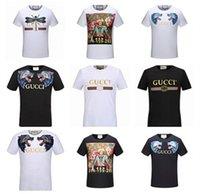 Wholesale Modern Men Shirts - Designer luxury Brand tag men T-shirt Designer common sense Spring Summer red green stripe letter print tshirt Runway Tees Casual Top