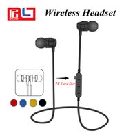 Wholesale iphone sd slot - T8 Metal Magnetic Bluetooth 4.2 Earphone Headset Sport Wireless Bluetooth Headset With Microphone For Mobile Phone With the SD Card slot