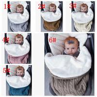 Wholesale infant envelope for sale - Group buy 6 color Baby Swaddle Wrap Knit Envelope Newborn Sleeping Bag Baby Warm Swaddling Blanket Infant Stroller Sleep Sack KKA5693