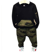 Wholesale baby clothes rabbit suits for sale - Group buy AiLe Rabbit Baby Boys Clothing Set Autumn Long Sleeve Cotton Camouflage O neck T shirt Pants Causl Sports Kids Clothing Suit