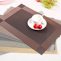Wholesale wholesale dining placemats - Pvc Dining Table Placemat Insulation Anti Slip Tables Mats Resturant Antibacterial Flame Retardant Placemats Friendly Reusable Pad 2 5qf gg