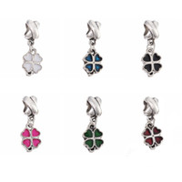 Wholesale wholesale pandora cherry blossom - Cherry blossoms Pendant Love Heart Charms Beads European DIY Silver Beads Fit Pandora Charm Bracelets Free shipping
