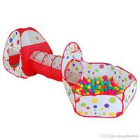 riesige spiele großhandel-Großhandelskinder, die Zelt-Rohrleitung kriechen, riesiges Spiel-Spiel-Haus-Baby-Spielplatz-Ozean-Ball-Pool K5BO