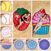 Wholesale Camping Showers - Fruit Flamingo Beach Towel Hamburger Ice Cream Softball Shower Towel Bath Sunscreen Printing Shawl Scarf 23 Styles 30pcs LJJO4381