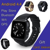 Wholesale google phone calls - Z01 Android 4.4 MT6572 Dual-core smart watch mobile phone with camera GPS Wifi google play support SIM card micro SD WCDMA whatsapp