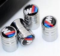 karosserie zubehör großhandel-Auto Auto Reifen Ventile Reifen Luftkappen M Power Performance Logo für BMW e30 E60 e90 e90 e92 f10 f20 Zubehör