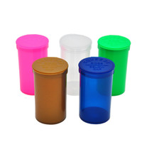 Wholesale Empty Pill Container - Empty Squeeze Pop Top Bottle Herb Pill Box Herb Containers Airtight Storage Case with Snuff Bullet Rocket Snorter Dugout