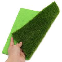 поддельные коврики оптовых-Green Artificial Lawns Realistic Simulation Grass Mat 30x30cm Small Turf Carpets Fake Sod Home Garden Moss For Floor Decoration