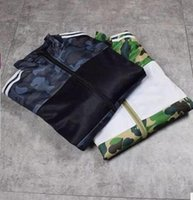 Wholesale Popular Cities - city popular Men's fashion kanye west hio hop Jackets camouflage jacket coat Stitching color Men's Outerwear & Coats sports yeezus jacket