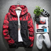 Wholesale army style jackets - Windbreaker Jacket Women Mens Fashion Style Hooded Jackets Outdoor Wear Sport Polyester Running Hiking Clothing Size M-5XL
