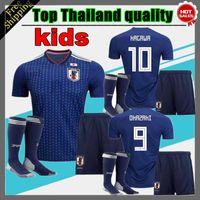 Wholesale Boys Size 16 - 2018 Japan kids Japan Home blue top Thailand Quality KAGAWA OKAZAKI NAGATOMO HASEBE Soccer Jersey 18 19 Japan football shirt Size 16 -28