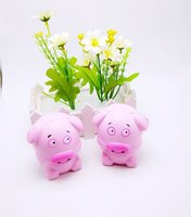 Wholesale hanger pink - simulation Pink Piggy Backpack Phone Hanger Squishy Kawaii Charms Squishies Funny Slow Rising Jumbo Squeeze Decompression 8 71bq X
