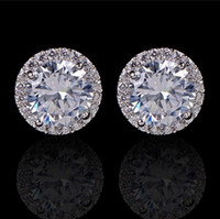 Wholesale beautiful girl jewelry for sale - Group buy Crystal Wedding Earrings For Women Bohemian Beautiful Round Diamond Earring Full CZ Zircon Ladies Girls Women Jewelry