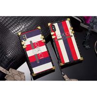 iphone telefone china großhandel-Luxusmarke weiche telefon case für iphone xr xs max 7 8 8 plus 6 6 plus 6 s pu leder zurück case abdeckung mit lanyard
