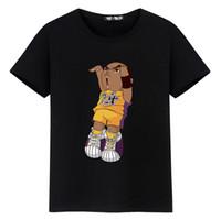 sportkleidung der neuen art und weisefrauen großhandel-2018 neue Art und Weise Mens Womens T-Shirts Karikatur-Druck-Kurzschluss-Hülsen-O-Ansatz übersteigt T-Stücke Basketball-Sportkleidung-angesagte Hopfenart-beiläufige Bluse