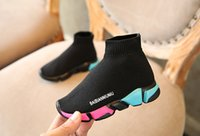 Wholesale kids shoes for sale - kids shoes baby running sneakers boots toddler boy and girls Wool knitted Athletic socks shoes p l