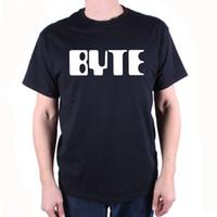 dergi baskısı toptan satış-Byte Dergi tişörtlü-Klasik Logo Kült Vintage Computing Tişörtlü% 100% pamuk rahat baskı kısa kollu erkek T-shirt o-boyun 2018 Yüksek