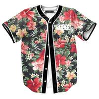 paisagismo de luxo venda por atacado-Homens 23 Paisagem Floral Impressão Praia T camisas 3d camiseta homme camiseta de luxo Contraste cor Preto tops