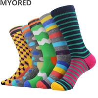 Wholesale Thermal Socks For Women - MYORED brand new men socks cotton colorful terry socks long tube towel sock for man women funny winter thermal meias