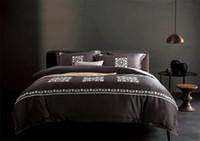 ingrosso set di lenzuola di lusso marrone-Copripiumino di lusso marrone caffè Set di biancheria da letto matrimoniale copriletto matrimoniale copripiumino coon egiziano