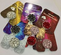 Wholesale bling iphone holder online - Diamond Ring Phone Holder Bling Diamond Unique Cell Phone Holder Fashion For iPhone x Samsung S8 cellphone stand iPad