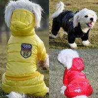 tela de abrigo abajo al por mayor-Nuevo diseño impermeable Abrigo de invierno de gran tamaño para mascotas ropa para perros Perro engrosamiento chaqueta abajo camisa de perro Tela para el traje perros mascotas