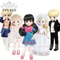 Wholesale Dolls Clothes Bjd - 1 6 BJD Doll 30cm 19 jointed dolls Boy Girl Toy Cake Model doll ( Free Eyes + Hair + Makeup Clothes Shoes ) EVA BJD DA003