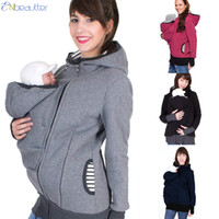 Wholesale baby carrier clothing resale online - Enbeautter Parenting Child Winter Pregnant Women S Sweatshirts Baby Carrier Wearing Hoodies Maternity Mother Kangaroo Clothes