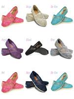 zapatos de crochet al por mayor-Zapatos casuales Mujeres Clásicos A MRS Mocasines Lienzo de moda de encaje de ganchillo Hollow out Slip-On Flats zapatos Lazy shoes tamaño 35-40 envío gratis k7