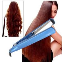 Wholesale nano ceramic hair online - 1 High Quality Hair Straightening Irons Hair Styling Tools Nano Titanium Plates Professional Hair Straightener