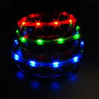 Wholesale rave supplies - LED Glasses Space Flash Of Light Lighted Children Kid Toy Gift Led Rave Creative Plastic Mix Colour Party Supplies Hot Sale 6zp V