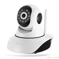 kamera sd ir ip toptan satış-Kablolu Wifi IP Kamera 720 P Pan Tilt Kablosuz Bebek Monitörü Kamera Hareket Algılama Iki Yönlü Ses SD Kart Yuvası IR CCTV