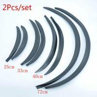 Wholesale fender flares - 2Pcs set Carbon Fibre Style Fender Flares Universal Arch Wheel Eyebrows Protect Ant-Scratch