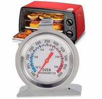 termómetros grandes al por mayor-Temperatura de la Carne de Alimentos de Pie Dial Dial Horno Termómetro Calibrador de Acero Inoxidable de Gran Diámetro Dial Suministros de Cocina Para Hornear