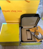 Wholesale top swiss watches for men - High Quality Luxury Mans Wrist Watch Boxes Swiss Top Brand Box Paper For Breitling Watch Booklet Card in English For Men Sale