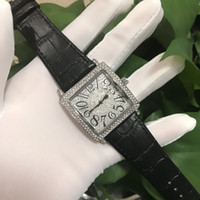 Wholesale flower belt buckles - AAA- full diamond, women's Diamond Flower watch brand luxury nanny women's, women's wear, belt pin buckle Watch Gift Girl ,clock women 2018