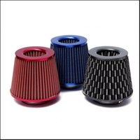 Wholesale Universal Air Filter quot inch mm Air Intake Filter Height High Flow Cone Cold Air Intake Performance