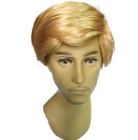 traje donald venda por atacado-Novidade Brinquedo Cosplay Donald Trump Peruca Pente Sobre o adulto Trump para o Presidente GOP perucas partido Trajes Acessório KKA5728