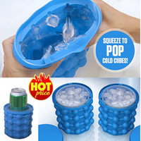 Wholesale blue ice cubes resale online - 13 cm Ice Cube Maker Genie The Revolutionary Space Saving Ice Cube Maker Kitchen Tools Wine Juice Coolers Free DHL