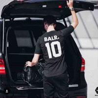 Wholesale BALR Europe English alphanumeric street all match cot ton T shirt men fashion sports soccer ball wear casual tee