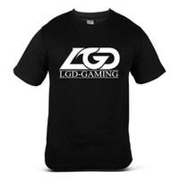 человек тройник кристалл оптовых-5666-BK LGD Gaming Dota 2 Crystal Maiden Dope Fun Повседневная черная футболка для мужчин