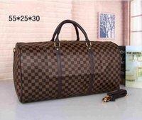 Wholesale animal print duffel bag - Keepall Travel Luggage Bag Damier Graphite PU Leather Handbag Men Travel Bags Mens Travel Totes Bag Mens Duffle Bag 55CM