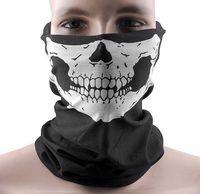venta de máscara de moto al por mayor-Skull Bandana Bike casco de la motocicleta cuello mascarilla Paintball Ski deporte diadema venta caliente del envío gratis