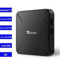 ingrosso dlna box-TX3 Mini Smart TV Box Android 7.1 Lettore multimediale in streaming Amlogic S905W Quad Core 2 GB 16 GB 1 G / 8 G Wifi Mini PC 4K Miracast DLNA NTSC