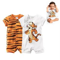 Wholesale girls clothes tiger resale online - Baby Clothing Jumpsuit Baby Romper Animal Tiger Clothes Newborn Baby Girl Boy Clothes Newborn Clothing