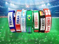 вентиляторы спортивные товары оптовых-2018 Чемпионат мира по футболу национальный флаг Браслет болельщиков спортивные товары наручные сувениры мелкие подарки оптом