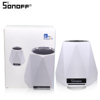 sonido wifi al por mayor-SONOFF Wireless SC Smart Home Sensor de ambiente interior Monitor WiFi Temperatura y humedad Light Air Módulo de sonido en tiempo real