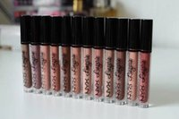 Wholesale Wholesale Lip Gloss Supplies - Hot supply NYX lingerie liquid Matte Lip gloss NYX Long-lasting Lipsticks 12 colors Makeup for free shipping.