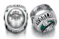 Wholesale fan rings - Philadelphia 2017 2018 Eagle s World 52th Championship Football Ring size 8-14 Fan Gift high quality wholesale Drop Shipping Foles